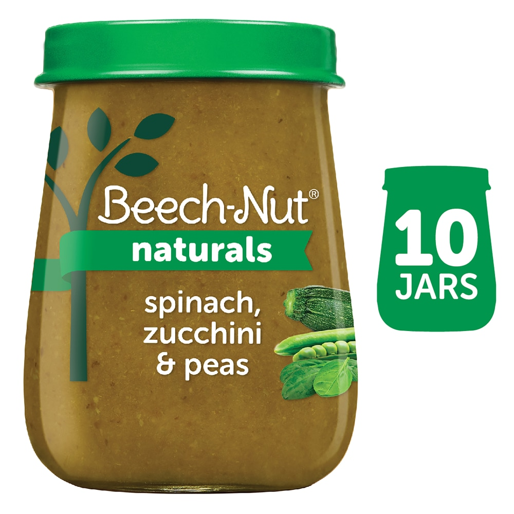 1005220017219 - BEECH-NUT NATURALS SPINACH ZUCCHINI & PEAS STAGE 2 BABY FOOD