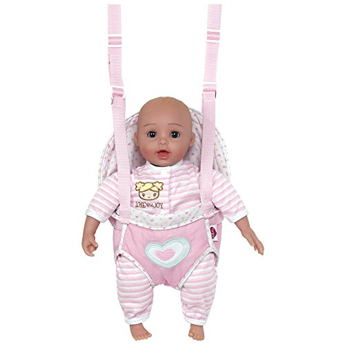 0010475153095 - ADORA GIGGLETIME GIGGLING LAUGHING SOUNDS OPEN/CLOSE EYES BABY DOLL W/CARRIER -
