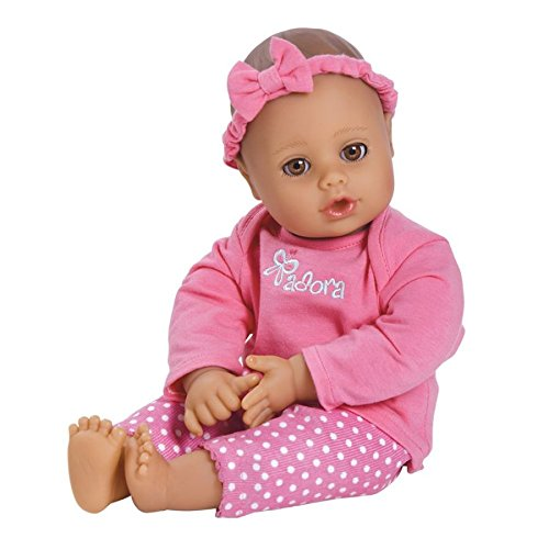 0010475230048 - ADORA PLAYTIME BABY- PINK, 13 WASHABLE SOFT BODY PLAY DOLL FOR CHILDREN 12 MONTHS & UP, WITH BOTTLE