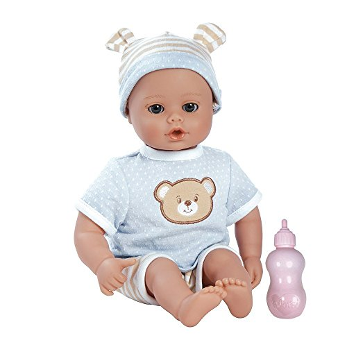 0010475230079 - ADORA PLAYTIME BABY- BEARY BLUE, 13 WASHABLE SOFT BODY PLAY DOLL FOR CHILDREN 12 MONTHS & UP, WITH BOTTLE