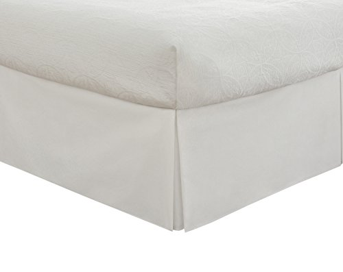 0010482032482 - LUX HOTEL BEDDING TAILORED BED SKIRT, CLASSIC 14 DROP LENGTH, PLEATED STYLING, KING, WHITE