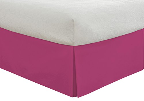 0010482044706 - LUX HOTEL BASIC MICROFIBER 14-INCH BED SKIRT, FULL, PINK