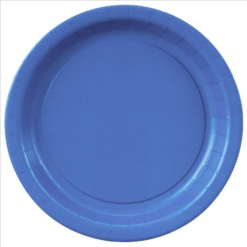 0011179314744 - PLATE BABY ROYAL BLUE 20