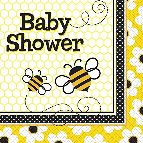 0011179434275 - BUMBLE BEE BABY SHOWER NAPKINS, 16CT