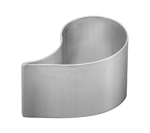 0011417276346 - PARRISH MAGIC LINE 3 X 2 INCH ALUMINUM COMMA-SHAPED MOLD PASTRY RING