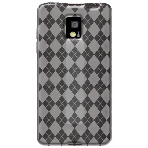 0012301426212 - AMZER LUXE ARGYLE HIGH GLOSS TPU SOFT GEL SKIN CASE FOR T-MOBILE G2X - 1 PACK - CASE - FRUSTRATION-FREE PACKAGING - CLEAR