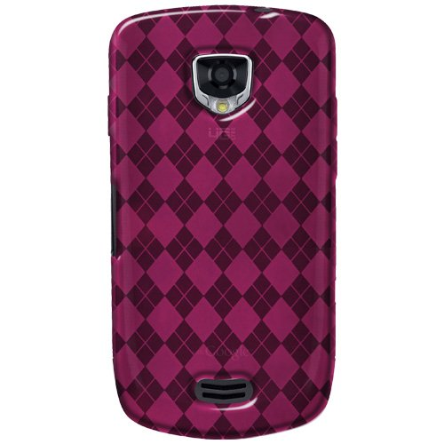 0012301426250 - AMZER LUXE ARGYLE HIGH GLOSS TPU SOFT GEL SKIN CASE FOR SAMSUNG DROID CHARGE SCH-I510 - HOT PINK - 1 PACK - CASE - FRUSTRATION-FREE PACKAGING