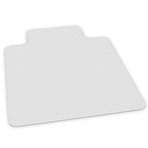 0012544201232 - ES ROBBINS EVERLIFE ANCHOR BAR LIPPED VINYL CHAIR MAT FOR FLAT TO LOW PILE CARPET, 45 BY 53-INCH, CLEAR