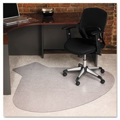 0012544227553 - ES ROBBINS EVER LIFE CHAIR MATS, L-WORKSTATION WITH LIP, 66 X 60, CLEAR (ESR122775)