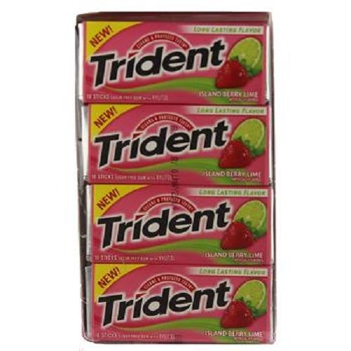 0012546001915 - TRIDENT VALUE PACK ISLAND BERRY LIME 18 PCS EACH ( 12 IN A PACK )