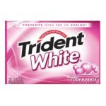 0012546075503 - TRIDENT WHITE SUGARLESS GUM COOL BUBBLE 12 PIECE
