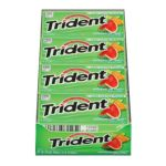 0012546075732 - TRIDENT SUGARLESS GUM WATERMELON TWIST WITH XYLITOL 216 STICKS