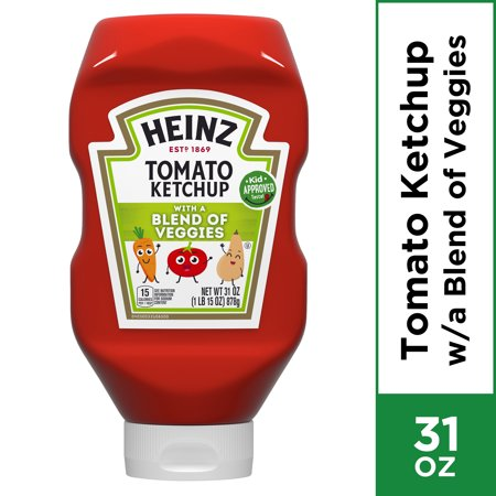 0013000000796 - HEINZ TOMATO KETCHUP WITH A BLEND OF VEGGIES, 31.0 OZ