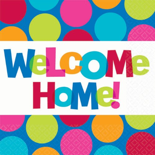 0013051314675 - AMSCAN HIGHLY ABSORBENT CABANA DOT WELCOME HOME BEVERAGE NAPKINS (16 PACK), 5 X 5, MULTI