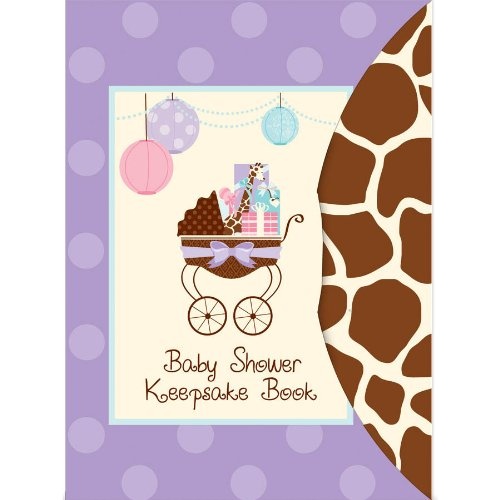 0013051360405 - AMSCAN MODERN MOMMY BABY SHOWER PARTY KEEPSAKE BOOK, 8-1/4 X 6, PURPLE