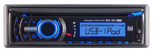 0132017546971 - DUAL XDMA6438 IN-DASH CD/MP3/USB CAR STEREO RECEIVER WITH IPOD AND IPHONE CONTROL AND FRONT USB/AUXILIARY INPUT