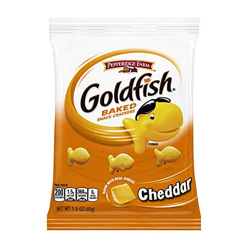 0014100121176 - PEPPERIDGE FARM GOLDFISH BAKED SNACK CRACKERS, CHEDDAR CHEESE, PACK OF 72, 1.5 OZ