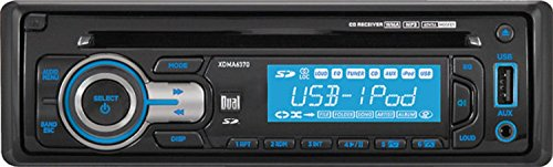 0014444719022 - DUAL XDMA6370 240-WATT AM/FM/MP3/IPOD DETACHABLE RECEIVER