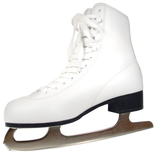 0014869522085 - AMERICAN ATHLETIC SHOE WOMEN'S TRICOT LINED ICE SKATES, WHITE, 8
