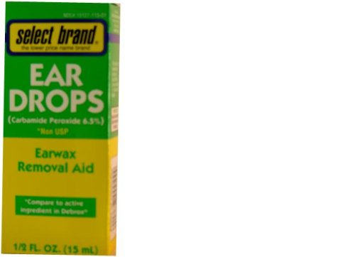 0015127000444 - SELECT BRAND DROPS EAR WAX REMOVAL AID - 0.5 OZ (15 ML) - COMPARE TO ACTIVE INGR