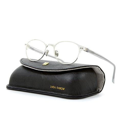 0015568036293 - LINDA FARROW LUXE 110 EYEGLASSES C2 SILVER & TRANSPARENT GREY FRAME / RX CLEAR