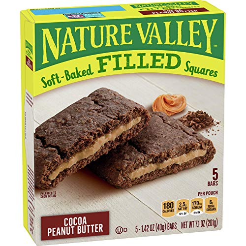 0016000107045 - Nature Valley Soft Baked Filled Squares Cocoa Peanut Butter