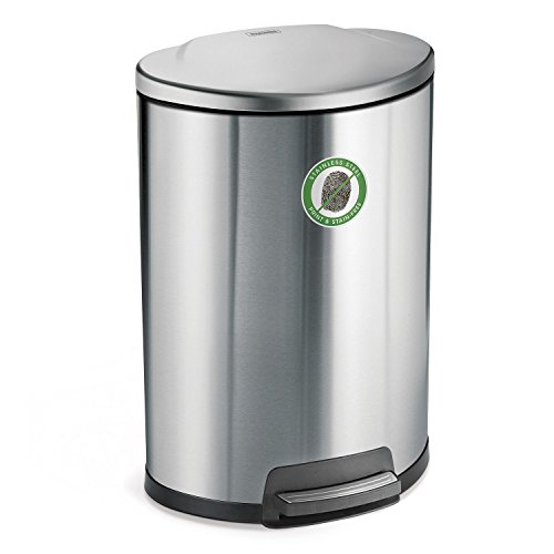 0016017084124 - STEP CAN D-SHAPE WASTE BIN WITH FRESHENER SYSTEM - 13 GALLON