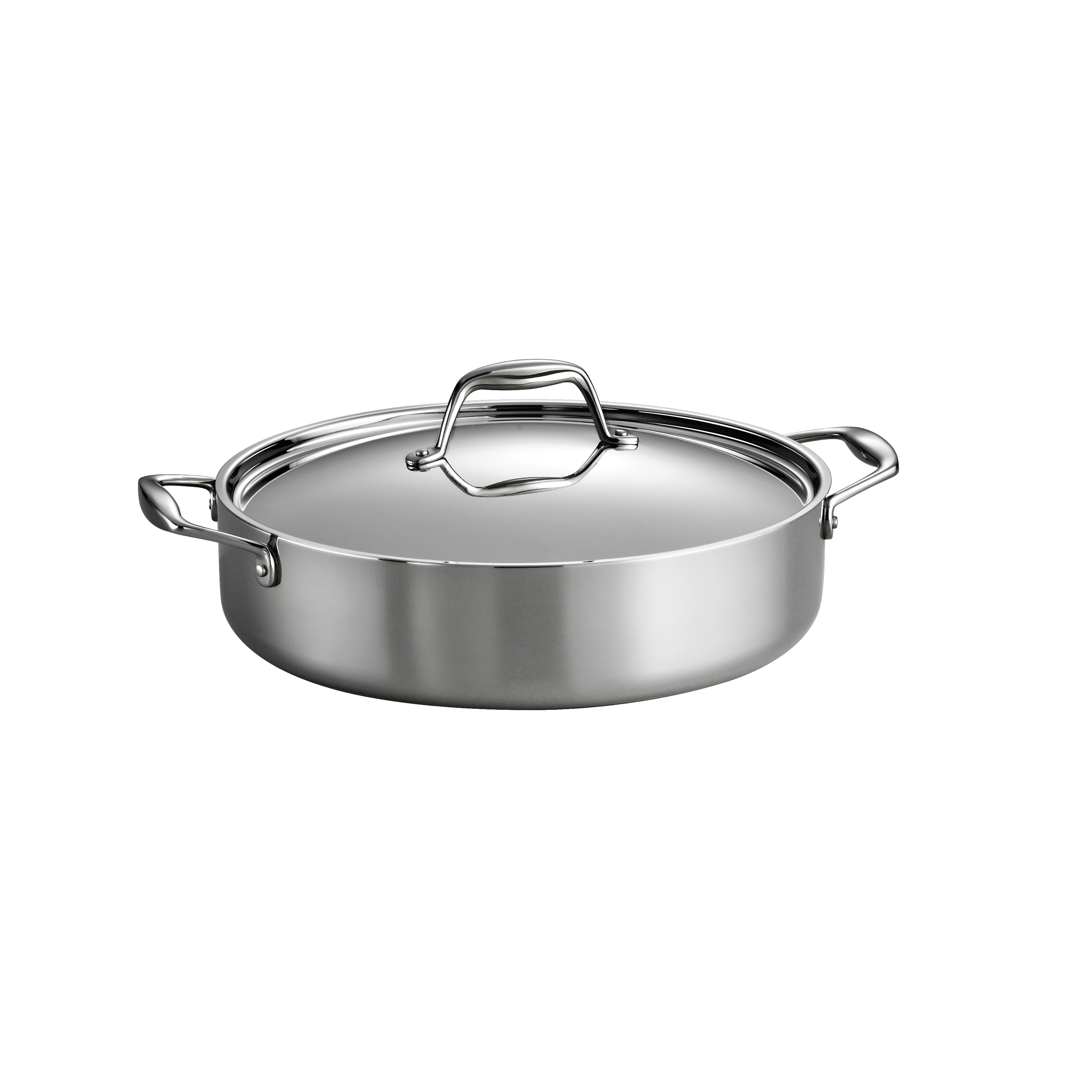 0016017101098 - GOURMET -TRI-PLY CLAD 18/10 STAINLESS STEEL INDUCTION-READY 5 QT COVERED BRAISER
