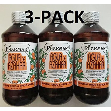 0016303912407 - AGUA DE AZAHAR 8 OZ. ORANGE FLOWER-BLOSSOM WATER 3-PACK