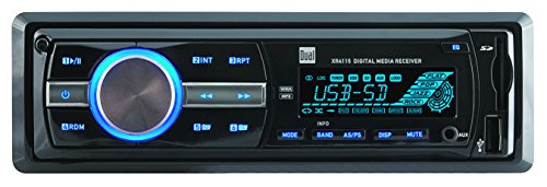 0168141374876 - DUAL XR4115 IN-DASH MP3, WMA MECHLESS DIGITAL MEDIA RECEIVER WITH USB, 3.5MM AND SD CARD INPUTS