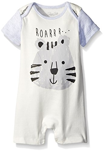 0017036930454 - RENE ROFE BABY BABY ROMPER, SILLY ANIMALS GREEN GREEN, 0-3 MONTHS