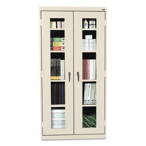 0017567037813 - SANDUSKY LEE CA4V361872-07 ELITE SERIES CLEAR VIEW STORAGE CABINET, 18 LENGTH, 72 HEIGHT, 36 WIDTH, PUTTY