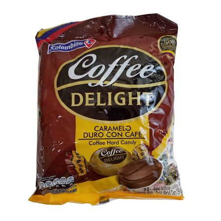 0179504522964 - COLOMBINA COFFEE DELIGHT HARD CANDY / CARAMELO DE CAFE 50 PIECES 2 PACK