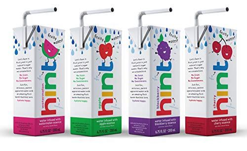 0184739002037 - HINT KIDS WATER VARIETY PACK, (PACK OF 32) 6.75 OZ BOXES, 8 BOXES EACH OF: CHERRY, WATERMELON, APPLE, & BLACKBERRY, UNSWEET WATER WITH ZERO DIET SWEETENERS