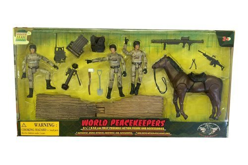 0018859770203 - POWER TEAM ELITE WORLD PEACE KEEPERS-WAR HORSE AND POSEABLE ACTION FIGURE AND ACCESSORIES
