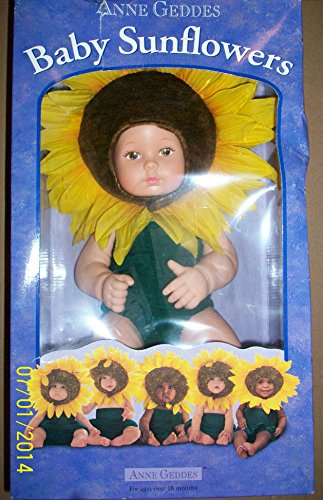0018876265812 - ANNE GEDDES 15 CAUCASIAN BABY SUNFLOWERS COLLECTIBLE DOLL