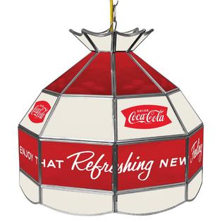 0190836399390 - COCA COLA ARC LOGO HANDMADE STAINED LAMP