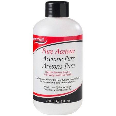 0191566600299 - SUPER NAIL PURE ACETONE POLISH REMOVER, 8 OZ