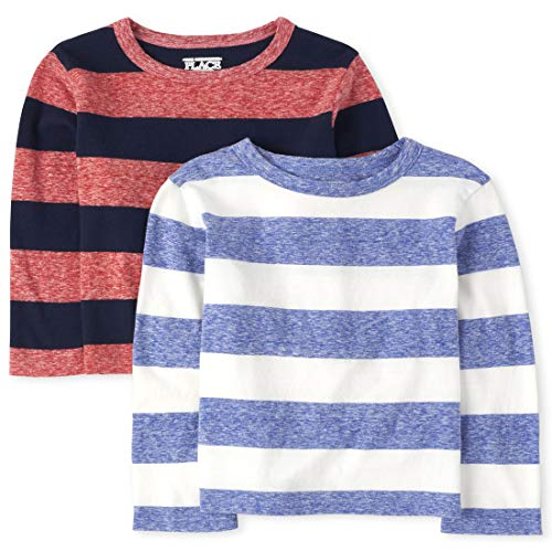 0193511899925 - THE CHILDRENS PLACE BABY BOYS LONG SLEEVE STRIPE SHIRT, CLASSICRED, 6-9MONTHS