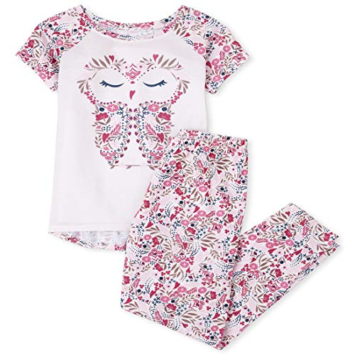 0193511932301 - THE CHILDRENS PLACE GIRLS TOP AND PANTS PAJAMA SET, BABY PINK, S (5/6)