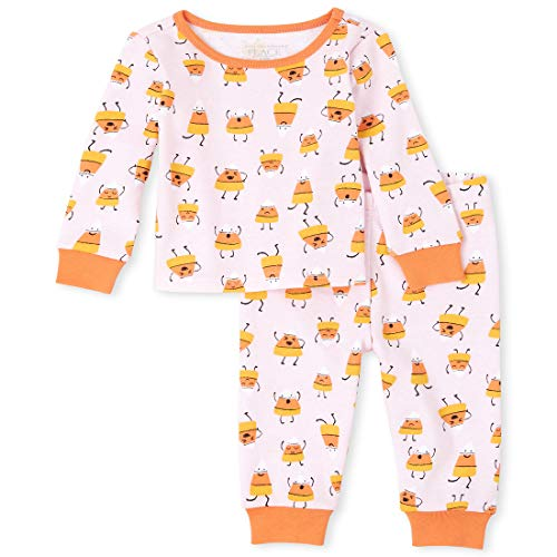 0193511957762 - THE CHILDRENS PLACE BABY GIRLS HALLOWEEN PAJAMA SET, CAMEO, 6-9MONTHS