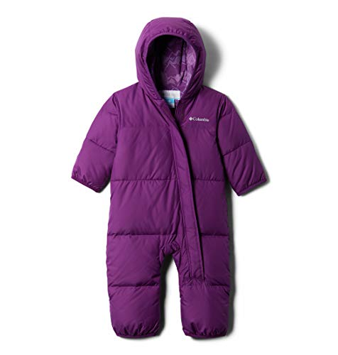 0193855668652 - COLUMBIA BABY GIRLS SNUGGLY BUNNY BUNTING, PLUM, 0-3 MONTHS