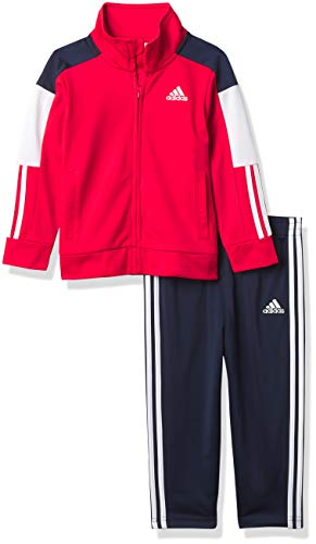 0194870305768 - ADIDAS BABY BOYS TRICOT TRACK SET, VIVID RED, 12 MONTHS