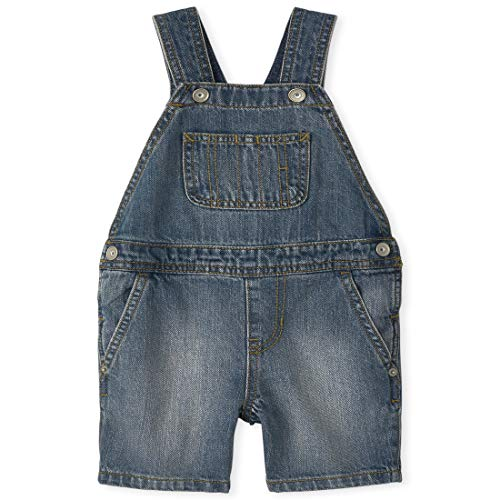 0194936311443 - THE CHILDRENS PLACE BABY BOYS SHORTALLS, HAMMOND WASH, 3T