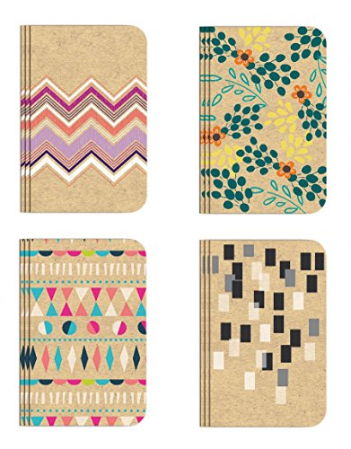 0019962871283 - POCKET NOTEBOOK SET (12 NOTEBOOKSTOTAL) 3.25 X 5.25 LINED PAGES, STITCHED BINDING, 4 DIFFERENT DESIGNS (SET 1) STATIONERY NOTEPAD
