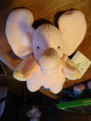 0020809331709 - CARTER'S JOHN LENNON LINE PINK PLUSH BABY ELEPHANT WITH BELL RATTLE BABY TOY