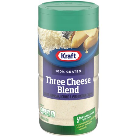 0021000016990 - KRAFT GRATED PARMESAN, ROMANO & ASIAGO, 8 OUNCE CANNISTER (PACK OF 2)