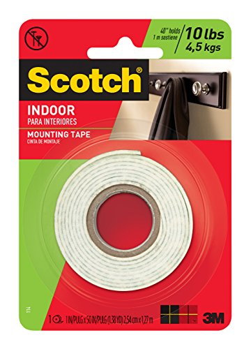 0021200013393 - 3M HEAVY DUTY MOUNTING TAPE, 1-INCH BY 50-INCH