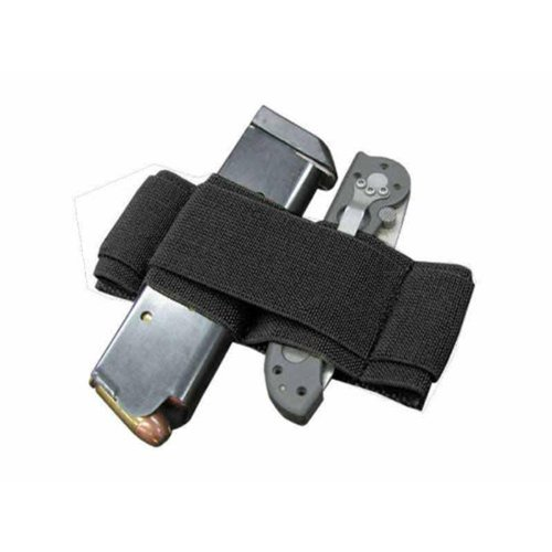 0022886442026 - CONDOR 2X ELASTIC KEEPER TACTICAL SAFETY TORCH HOLDER MOLLE MAGAZINE MOUNT BLACK