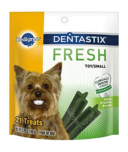 0023100103099 - PEDIGREE FRESH DENTASTIX 21 MINI TREATS SMALL/TOY DOGS, 5.26 OZ (PACK OF 2)